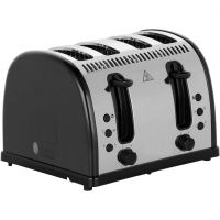 Russell Hobbs Legacy 4 Slice Polished 21303 4 Slice Toaster - Black