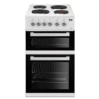 Beko KD531AW 50 cm Twin Cavity Electric Cooker With Sealed Plate Hob - White