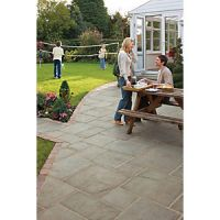 Marshalls Coach House Riven Pennant Grey Mixed Size Paving Patio Pack B - 9.7 m2