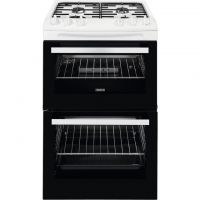 Zanussi ZCG43050WA 55cm Gas Cooker with Full Width Electric Grill - White - A/A Rated