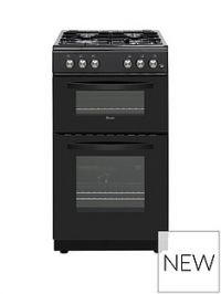 Swan SX15871B 50CM TWIN GAS COOKER BLACK