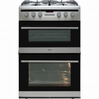 Amica AFG6450SS 60cm Gas Cooker with Full Width Gas Grill - Stainless Steel - A/A Rated