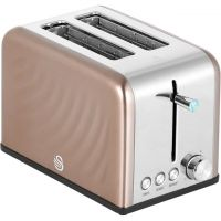 Swan ST19010TWN 2 Slice Toaster - Copper