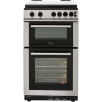 Belling FS50GTCL Gas Cooker with Full Width Gas Grill - Stainless Steel - A Rated