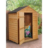 Forest Garden Apex Overlap Dip Treated Windowless Shed - 5 x 3 ft