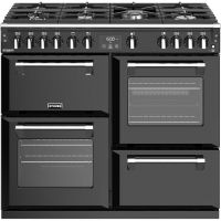 Stoves Richmond Deluxe S1000G 100cm Gas Range Cooker with Electric Grill - Black - A/A/A Rated