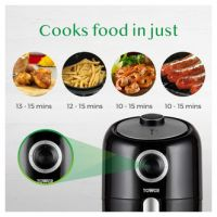Tower T17026BF Compact Air Fryer 1 6L 1000W