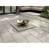 Marshalls Sawn Sandstone Smooth Grey Multi 600 x 300 x 22 mm Paving Slab