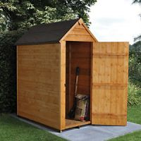 Forest Garden Small Apex Overlap Dip Treated Windowless Shed - 3 x 5 ft