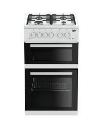 Beko Kdg582W 50Cm Wide Twin Cavity Gas Cooker - White