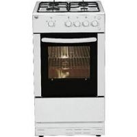 Bush AG56SW 50cm Single Oven Gas Cooker - White