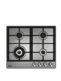 Swan Sxb75260Ss 60Cm Wide Gas Hob With Wok Burner - Stainless Steel