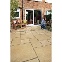 Marshalls Regent Riven Buff 300 x 300 x 38mm Paving Slab - Pack of 60
