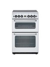 New World 550TSIDOm 55cm Wide Double Oven Gas Cooker - White