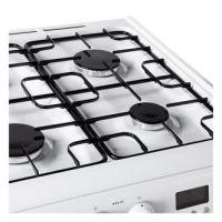 Hotpoint HAG60P 60cm Gas Cooker in White Double Oven FSD A Rated