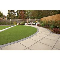 Marshalls Saxon Textured Natural 300 x 300 x 35mm Paving Slab - Pack of 60