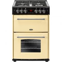Belling Farmhouse60G 60cm Gas Cooker with Full Width Electric Grill - Cream - A+/A Rated