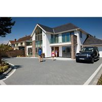 Marshalls Argent Block Mixed Size Paving Driveway Pack - Graphite 10.75 m2