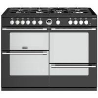 Stoves Sterling Deluxe S1100G 110cm Gas Range Cooker with Electric Grill - Black - A/A/A Rated
