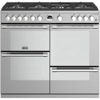 Stoves Sterling Deluxe S1000G 100cm Gas Range Cooker with Electric Grill - Stainless Steel - A/A/A Rated