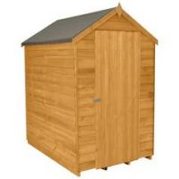 Forest 6 x 4ft Overlap Wooden Apex Shed - No Window