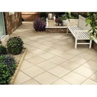 Marshalls Saxon Textured Buff 450 x 450 x 35 mm Paving Slab