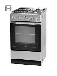 Indesit I5GG1S 50cm Single Oven Gas Cooker