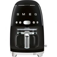 Smeg 50's Retro DCF02BLUK Filter Coffee Machine with Timer - Black