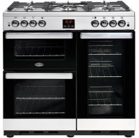 Belling Cookcentre90G 90cm Gas Range Cooker with Electric Fan Oven - Stainless Steel - A/A Rated