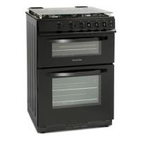 Montpellier MDG600LK 60cm Gas Cooker in Black Double Oven FSD