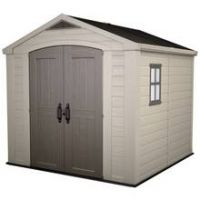 Keter Apex Plastic Beige & Brown Garden Shed - 8 x 8ft