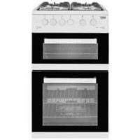 Beko KDG582W 50cm Twin Cavity Gas Cooker - White