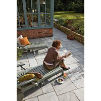 Marshalls Antique Alverno Riven Silver Limestone Mixed Size Paving Patio Pack - 15.5 m2