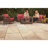 Marshalls Indian Sandstone Riven Brown Mixed Size Paving Patio Pack - 15.23 m2