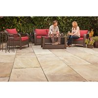 Marshalls Indian Sandstone Riven Brown Mixed Size Paving - 15.23 m2 pack