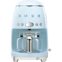 Smeg DCF02PBUK Filter Coffee Machine with Timer - Pastel Blue