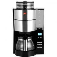 Melitta Grind & Brew 6760642 Filter Coffee Machine with Timer - Silver / Black