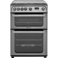 Hotpoint Ultima HUG61X 60cm Gas Cooker with Variable Gas Grill - Stainless Steel - A+/A Rated