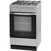 Indesit I5GG1S Gas Cooker - Silver - A Rated