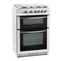 Montpellier MDG600LW 60cm Gas Cooker in White Double Oven FSD