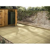 Marshalls Richmond Smooth Buff Paving Slab 600 x 600 x 38 mm