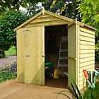 6X4 Sheds/Storage Apex Overlap Double Door Wooden Shed