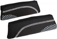 Halfords Black & Grey Dots Memory Foam Seat Belt Pads