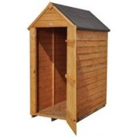 Forest 3 x 5ft Overlap Wooden Apex Shed - No Window
