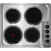 Amica PG4ES11 58cm Solid Plate Hob - Stainless Steel