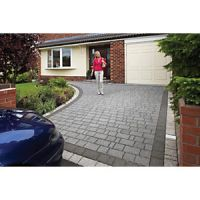 Marshalls Argent Priora Textured Block Mixed Size Paving Driveway Pack - Graphite 8.06 m2