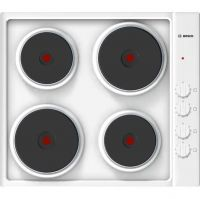Bosch Serie 2 PEE682CA1 58cm Solid Plate Hob - White