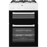Beko KTG611W Gas Cooker with Full Width Gas Grill - White - A+ Rated