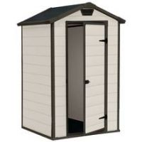 Keter Manor Apex Garden Storage Shed 4 x 3ft – Beige/Brown