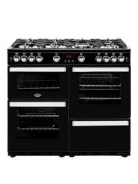 Belling 100G Cookcentre 100cm Gas Range Cooker with Optional Connection - Black